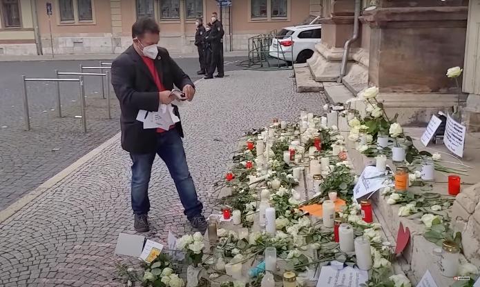 2020 News: Schänder der weißen Rosen in Weimar ist DGB-Gewerkschaftsfunktionär